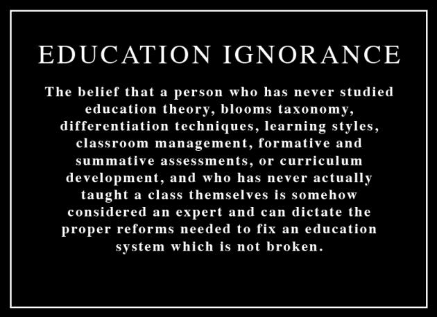 Education Ignorance